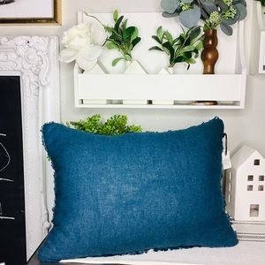 Hearth and hand blue pillow new